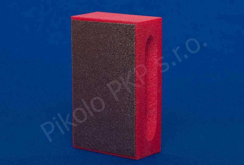 Diaflex červený střední D 76 ( 200 M) - diamantová brusná houbička na sklo