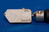 Japonský řezák na sklo Nikken kovový; NC-X03T-B; pro sílu 6-12; široká hlava - řezák na sklo olejový