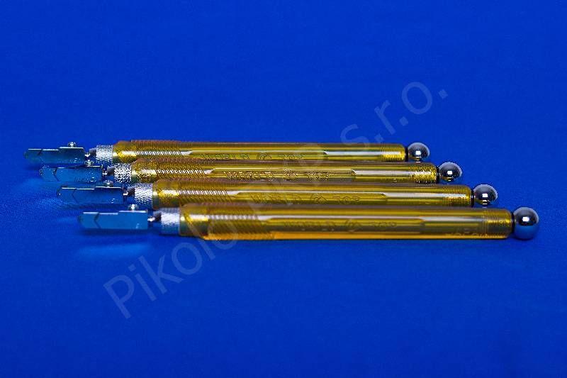 Japonský řezák na sklo Nikken plastový; NC-X02T; pro sílu 6-12mm, úzká hlava - řezák na sklo olejový