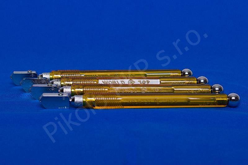 Japonský řezák na sklo Nikken plastový; NC-X03; pro skla 2-6mm; široká hlava - řezák na sklo olejový