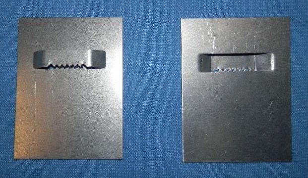 Plech 6 x 8 cm se zoubky na průlisu Pikolo PKP s.r.o.