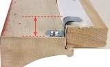 S háček pro napínací rám výška 3,2 mm